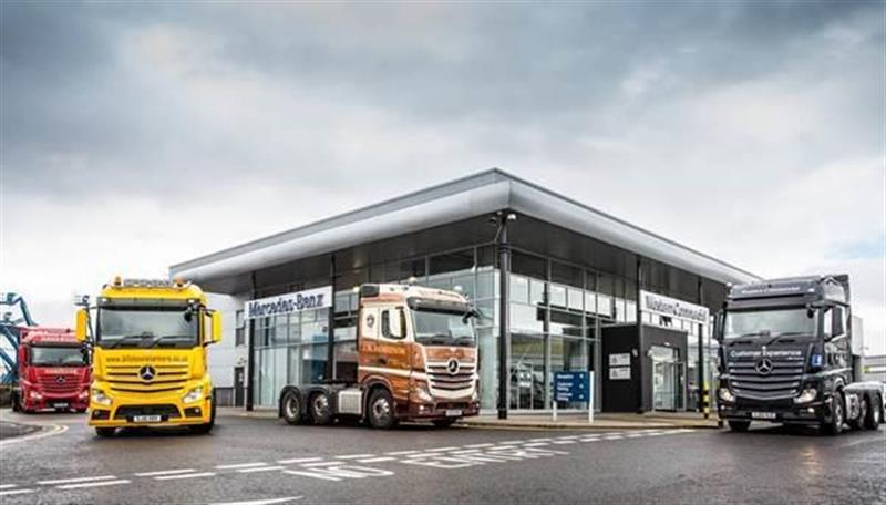 first dedicated mercedes truck dealership for scotland