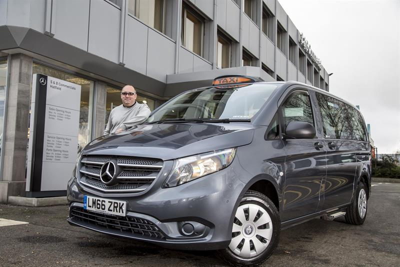 First all new mercedes benz vito taxi goes to michele berti for London mercedes benz