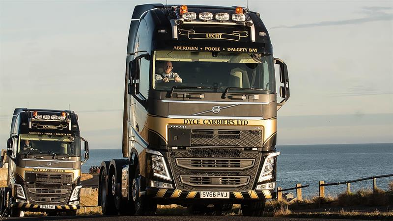 Lucky for some: 13 Volvo FH vehicles for Dyce Carriers