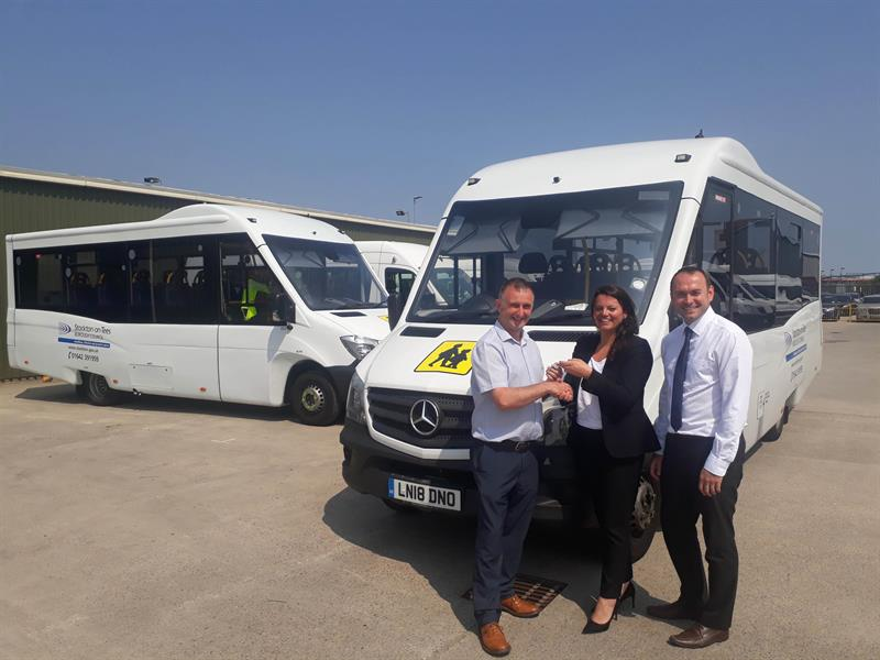 5a21e8fc85 Stockton Borough Council has taken delivery of seven Mellor high floor  vehicles based on the Mercedes-Benz Sprinter chassis