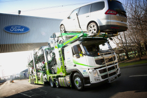 Car transporter industry helps ford with cancer support for Ford motor company charitable donations