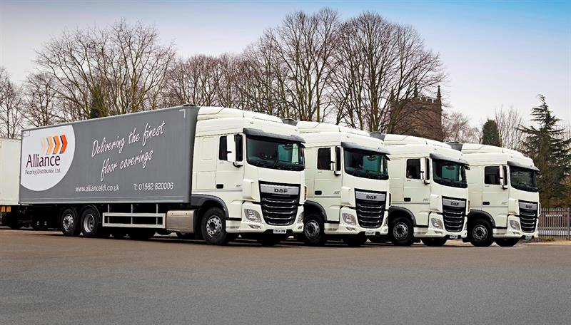 Alliance flooring takes four daf trucks from enterprise for Alliance flooring